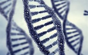 DNA strenge, blå